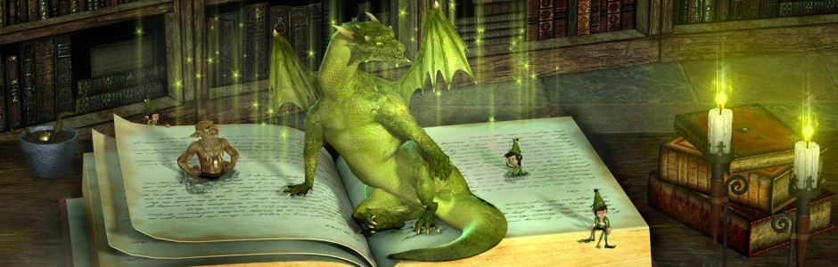 Magic Book Of Dragons Desktop Background